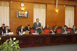 Tại phiên họp thứ 26, Ủy ban Thường vụ Quốc hội cho ý kiến 4 dự án luật - Ảnh: TTXVN.