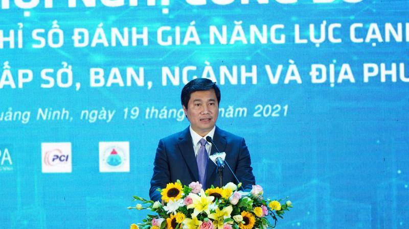 Ông Nguyễn Tường Văn – Chủ tịch UBND tỉnh Quảng Ninh phát biểu tại Hội nghị.