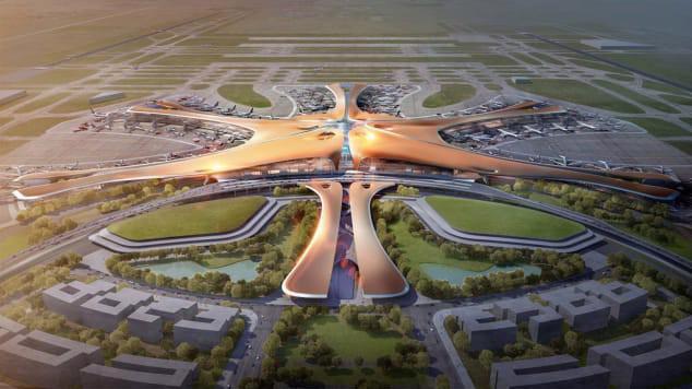 Sân bay Quốc tế Đại Hưng Bắc Kinh dự kiến khánh thành vào tháng 9/2019 - Ảnh: CNN.