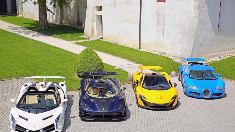 Các siêu xe nằm trong bộ sưu tập 25 chiếc bị tịch thu và bán đấu giá của phó tổng thống Equatorial Guinea - Ảnh: CNN.