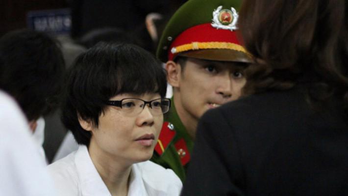 Bị cáo Huỳnh Thị Huyền Như tại phiên tòa - Ảnh: Tuổi Trẻ.