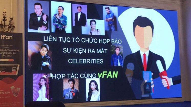 Một hình ảnh quảng bá của fanpage ifancoin mượn danh các nghệ sỹ nổi tiếng.
