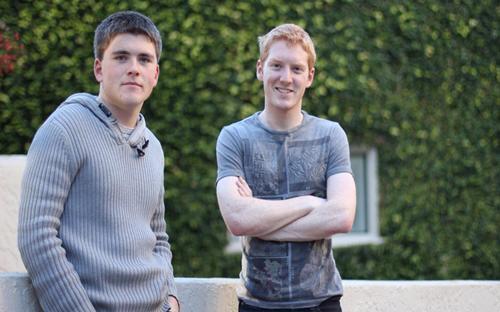 Hai anh em Patrick và John Collison - Ảnh: The Irish Times.<br>