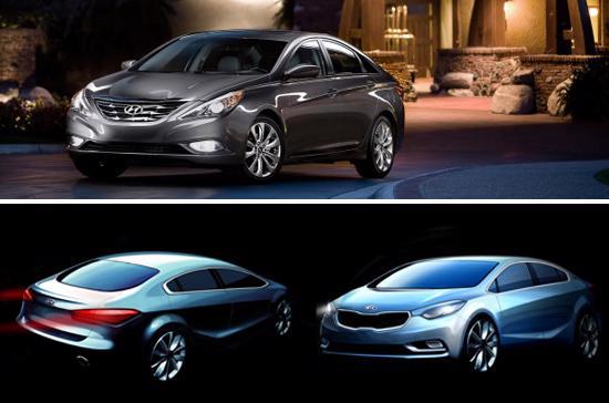 Hyundai Sonata và Kia Forte thế hệ mới sẽ mang diện mạo khác xa so với hiện tại.