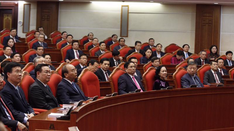 Ban Chấp hành Trung ương đã bỏ phiếu giới thiệu nhân sự ứng cử các chức danh Chủ tịch nước, Thủ tướng Chính phủ, Chủ tịch Quốc hội với số phiếu tập trung cao - Ảnh: VGP
