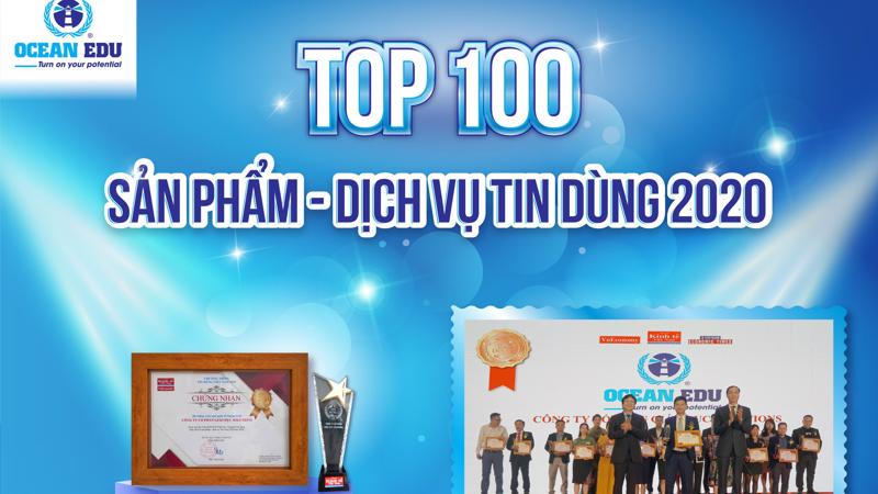 Hệ thống Anh ngữ Quốc tế Ocean Edu đã được vinh danh trong Top 100 Sản phẩm - Dịch vụ Tin Dùng Việt Nam 2020.