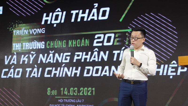 Ông Nguyễn Thế Minh, Giám đốc phòng phân tích YSVN chia sẻ tại buổi hội thảo.