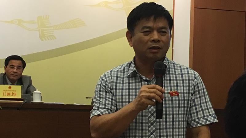 Ông Nguyễn Thanh Hồng, Uỷ viên Thường trực Uỷ ban Quốc phòng - an ninh (cơ quan thẩm tra dự án Luật An ninh mạng) trả lời báo chí tại cuộc họp báo công bố kết quả kỳ họp thứ 5 của Quốc hội.