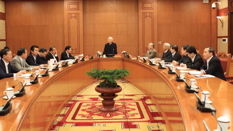 Ngày 25/11, Thường trực Ban Chỉ đạo Trung ương về phòng, chống tham nhũng đã họp dưới sự chủ trì của Tổng bí thư Nguyễn Phú Trọng.