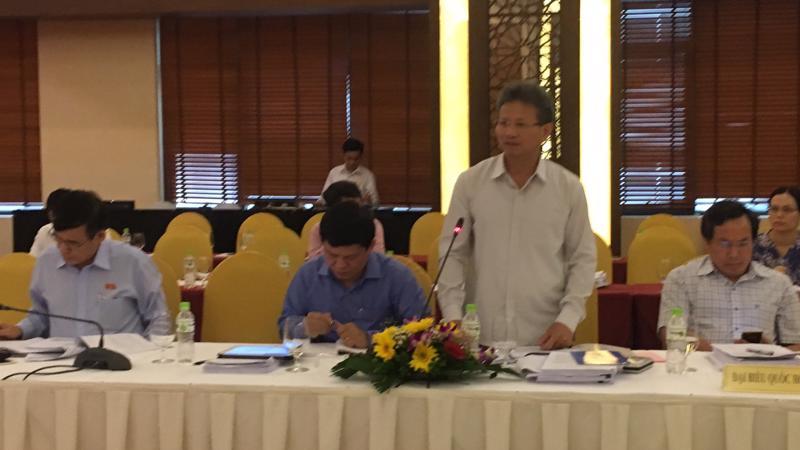 Uỷ viên Thường trực Uỷ ban Kinh tế, đại biểu Đỗ Văn Sinh phát biểu.
