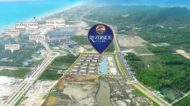 Vị trí đắc địa của dự án Boutique Hotel hạng sang Riverside Villas.