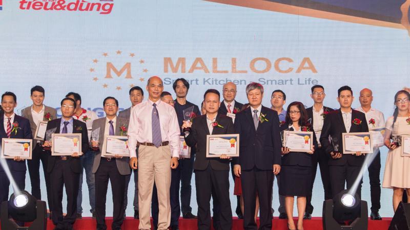 """Malloca Việt Nam lọt vào Top 100 """"Sản phẩm - dịch vụ Tin & Dùng Việt Nam 2017""""."""