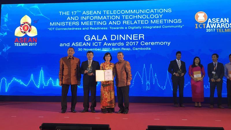 BIDV là ngân hàng đầu tiên tham gia và đạt giải cao tại ASEAN ICT Awards.