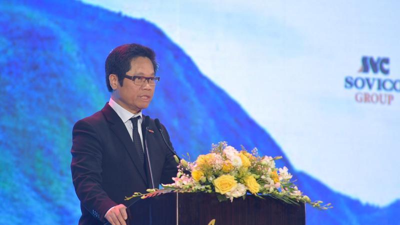 Chủ tịch VCCI Vũ Tiến Lộc phát biểu tại diễn đàn - Ảnh: ĐB