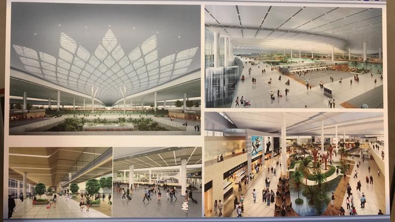 Nhà ga hành khách giai đoạn 1 sân bay Long Thành - Ảnh trưng bày tại hàng lang Quốc hội.