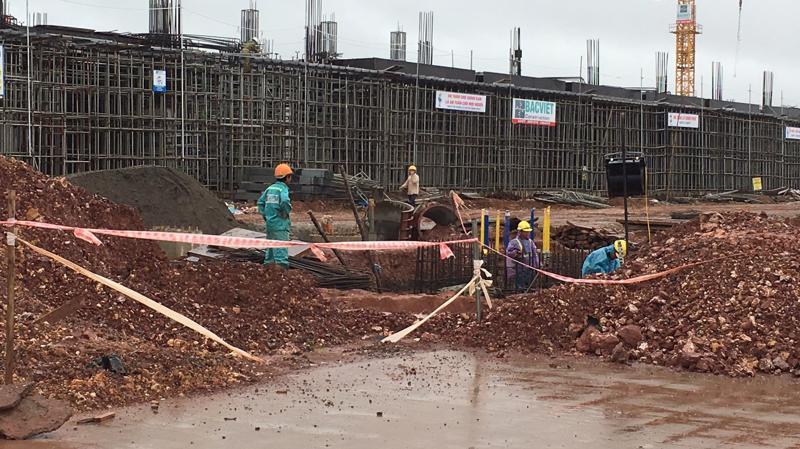 Một góc sân bay Quảng Ninh - nằm trong khu quy hoạch đặc khu Vân Đồn - đang được xây dựng.