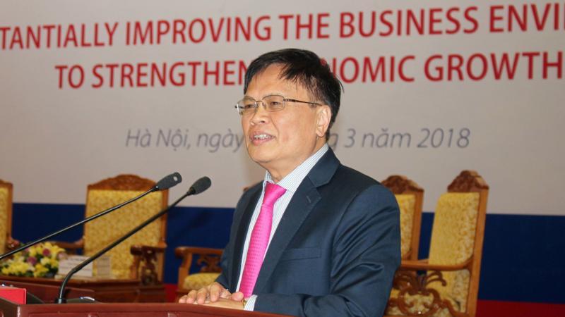 TS. Nguyễn Đình Cung, Viện trưởng Viện Nghiên cứu quản lý kinh tế Trung ương tại hội nghị - Ảnh: ĐT