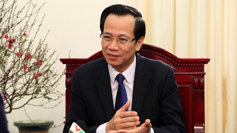 Ông Đào Ngọc Dung, Bộ trưởng Bộ Lao động Thương binh và Xã hội.