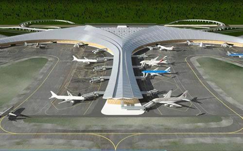 Dự án Cảng hàng không quốc tế  Long Thành có diện tích đất thu hồi 5.000 ha, trong đó diện tích đất xây dựng kết cấu hạ tầng cảng hàng không là 2.750 ha.