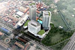 Phối cảnh dự án Indochina Plaza Hanoi.