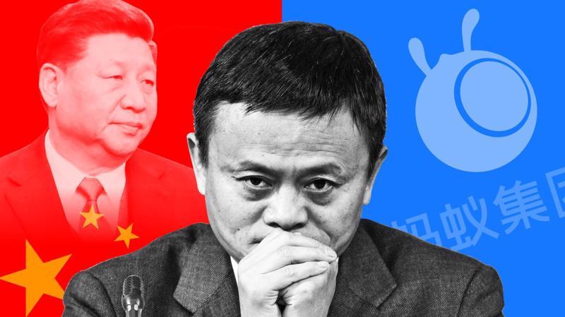 Jack Ma và Alibaba, Ant Group là tâm điểm trong đợt thắt chặt kiểm soát các công ty công nghệ của Bắc Kinh - Ảnh: FT
