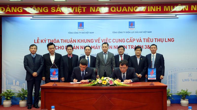 Lễ ký kết thỏa thuận khung về việc cung cấp và tiêu thụ LNG cho nhà máy điện Nhơn Trạch 3 và 4.