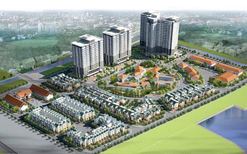 Phối cảnh dự án khu đô thị Trung Văn, Từ Liêm, Hà Nội.<br>