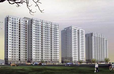 Phối cảnh thiết kế một dự án nhà thu nhập thấp tại Hà Nội - Ảnh minh họa.