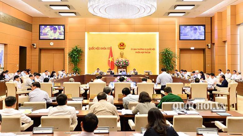 Phiên họp thứ 28 của Uỷ ban Thường vụ Quốc hội.