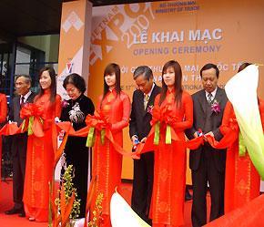 Hội chợ Vietnam Expo 2007 là hội chợ đầu tiên sau khi Việt Nam trở thành thành viên chính thức của WTO - Ảnh: Q.Ngọc.