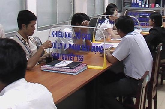 Trong năm 2010 các cơ quan Nhà nước đã tiếp nhận 157.779 đơn thư khiếu nại, tố cáo.