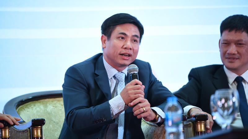 Phó cục trưởng Cục Quản lý nhà và Thị trường bất động sản Nguyễn Mạnh Khởi chia sẻ tại diễn đàn.