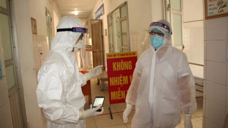 Bên trong khu cách ly tại Tp.Chí Linh, Hải Dương. Ảnh - Bộ Y tế.