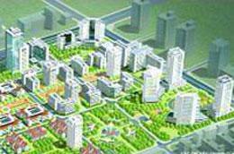Phối cảnh khu đô thị đông nam Trần Duy Hưng.