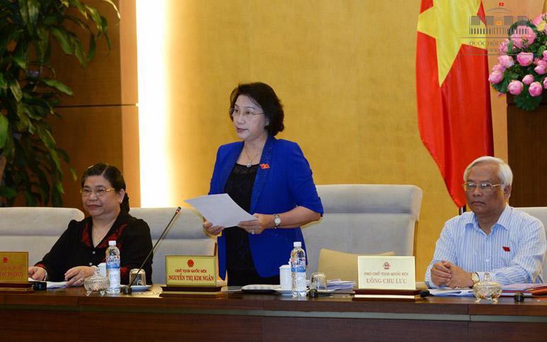 Chủ tịch Quốc hội Nguyễn Thị Kim Ngân.<br>