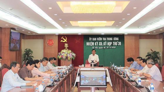 Kỳ họp thứ 39 của Uỷ ban Kiểm tra Trung ương