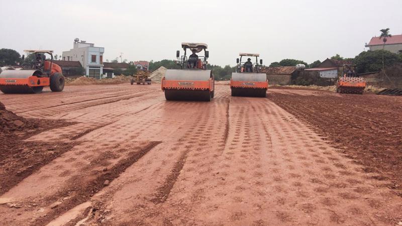 Cao tốc Bắc Giang - Lạng Sơn đoạn qua huyện Lạng Giang.