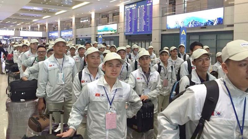 Hàn Quốc là thị trường xuất khẩu trọng điểm, thu hút đông lao động Việt Nam đi làm việc. Ảnh minh họa.