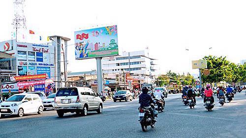 Một góc thành phố Biên Hòa.