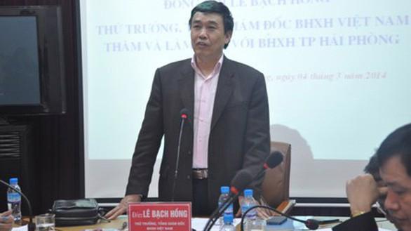 Khởi tố, bắt tạm giam nguyên Tổng giám đốc Bảo hiểm xã hội Việt Nam Lê Bạch Hồng.