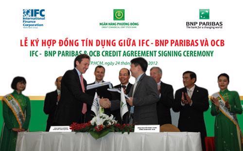 Ký kết hợp đồng tín dụng giữa IFC - BNP Paribas và OCB.