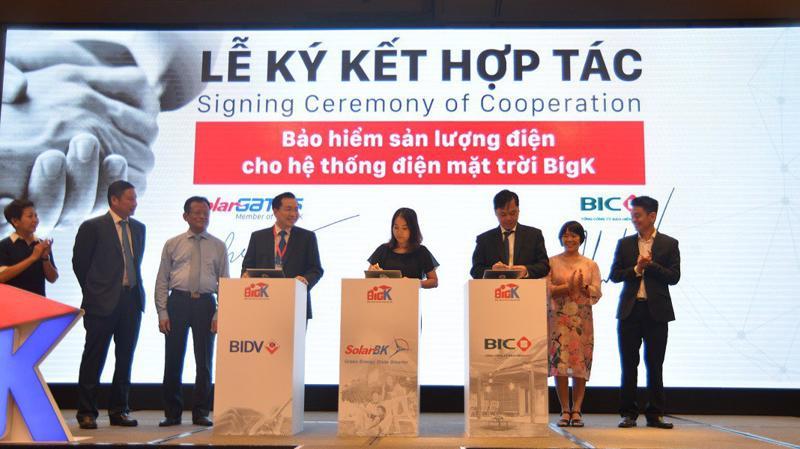 """Sự hợp tác giữa 3 tập đoàn lớn BIDV - BIC và SolarBK đánh dấu bước """"chuyển mình"""" cho điện mặt trời Việt Nam."""