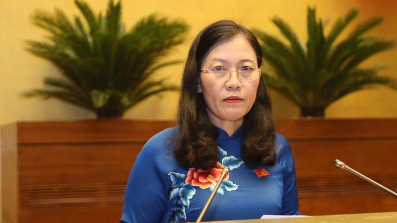 Chủ nhiệm Uỷ ban Tư pháp Lê Thị Nga - Ảnh: Quang Phúc