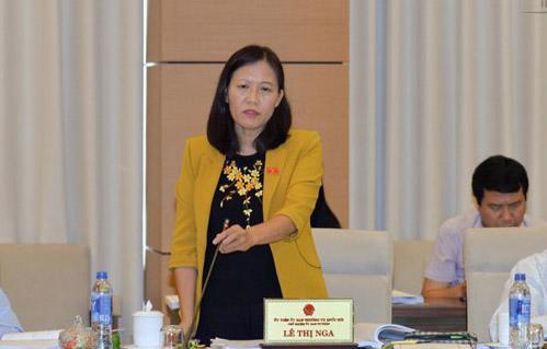 Chủ nhiệm Uỷ ban Tư pháp Lê Thị Nga đề nghị coi kết quả trả lời kiến nghị của cử tri là căn cứ đánh giá tín nhiệm.