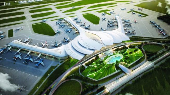 Mô hình Cảng hàng không quốc tế Long Thành.