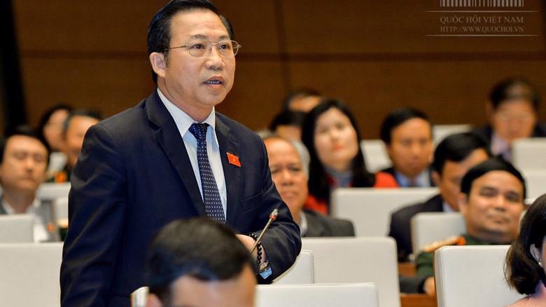 Đại biểu Lưu Bình Nhưỡng phát biểu tại nghị trường.