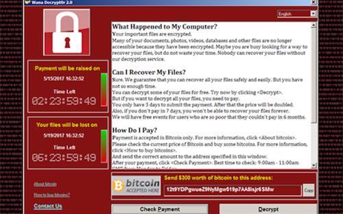 """<font face=""""Arial, Verdana""""><span style=""""font-size: 13.3333px;"""">Một thông báo tống tiền trên máy tính nạn nhân sau khi bị nhiễm mã độc&nbsp;WannaCry.</span></font>"""
