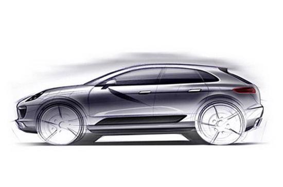Bản phác họa thiết kế mẫu Porsche Macan. Theo kế hoạch, mẫu SUV cỡ nhỏ đầu tiên của Porsche sẽ xuất xưởng vào năm 2013.