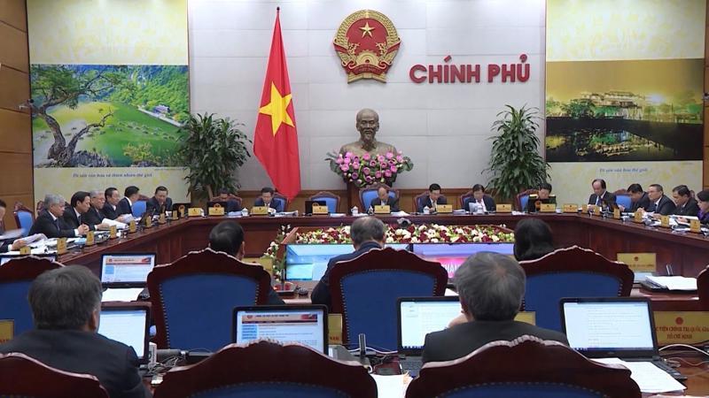 Chính phủ trong một phiên họp trực tuyến với các địa phương.