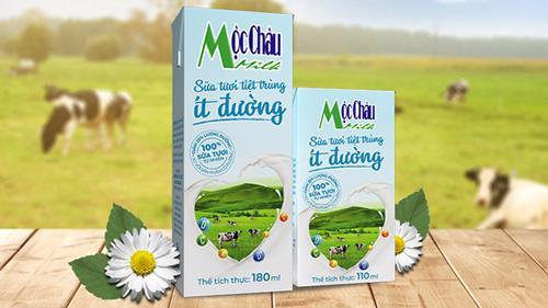 Một trong những sản phẩm của Mộc Châu Milk.